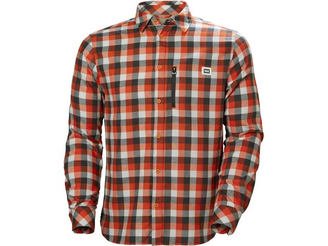 Helly Hansen Lokka LS Shirt Herr cherry tomato plaid